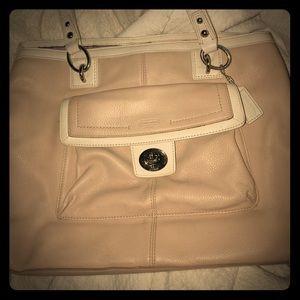Large Leather Coach shoulder bag